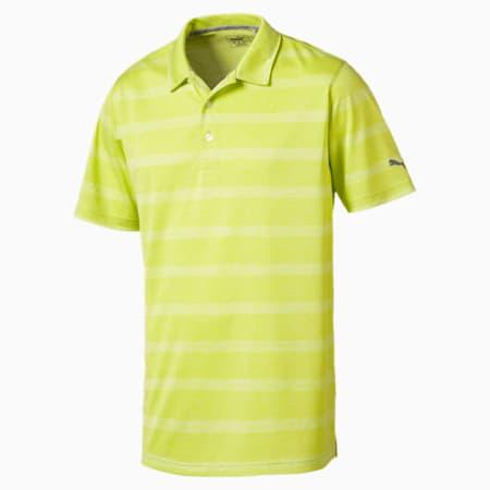Golf Men's Pounce Stripe Polo, Acid Lime, small-SEA