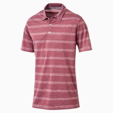 Golf Men's Pounce Stripe Polo, Pomegranate, small-SEA