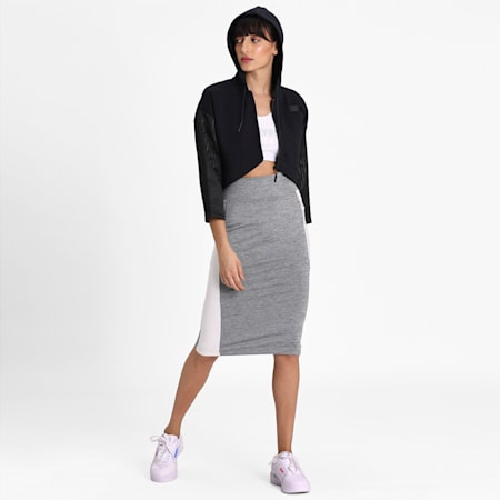 Women's Archive Logo Pencil Skirt, Medium Gray Heather, small-IND