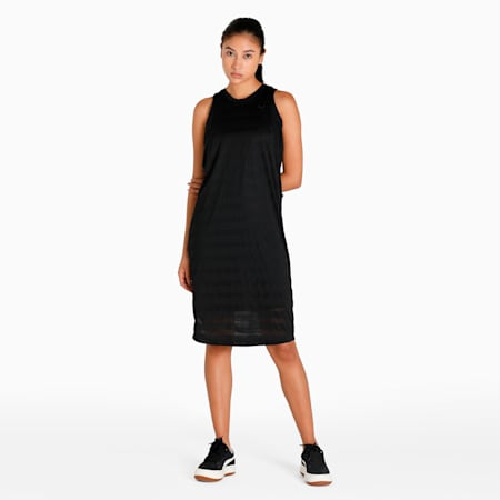 Evolution Women's Burn Out Tank Dress, Puma Black, small-IND