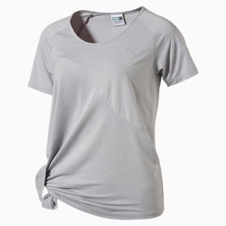 Evolution Women's Side Knot T-Shirt, Light Gray Heather, small-SEA