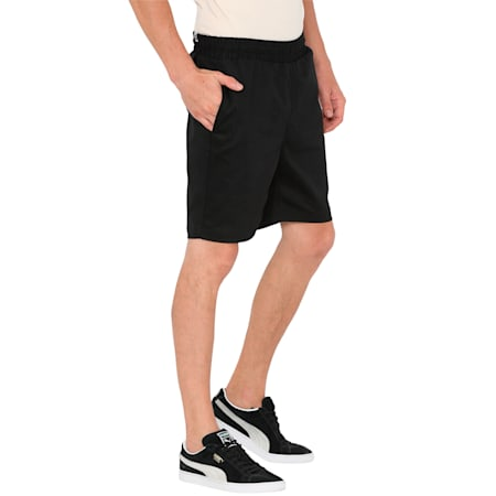Men's Suede Shorts, Puma Black, small-IND