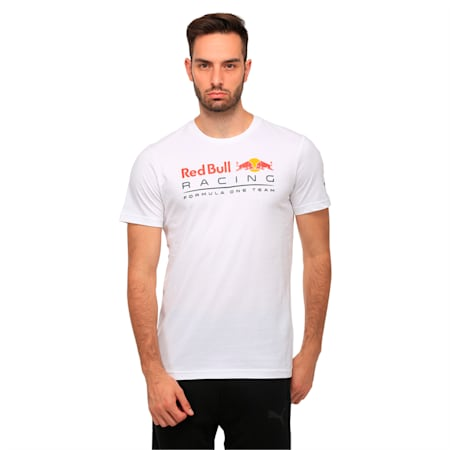 Red Bull Racing Men's Logo T-Shirt, Puma White, small-IND