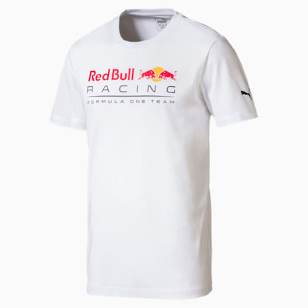 Red Bull Racing Men's Logo T-Shirt, Puma White, small-SEA