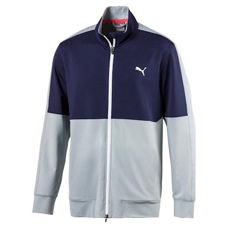 Golf Men's PWRWARM Track Jacket, Peacoat-Quarry, small-SEA