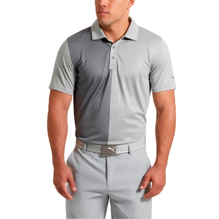 Golf Men's Bisected Polo, Quarry, small-SEA