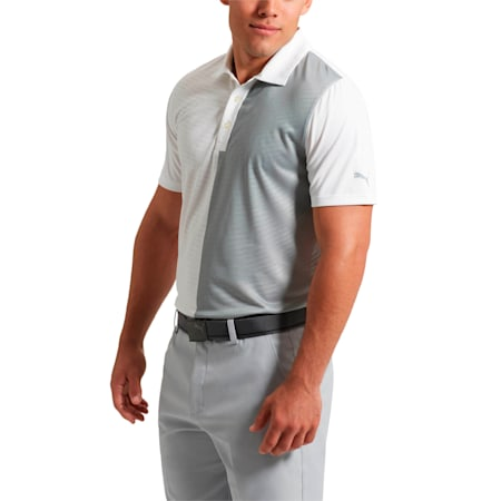 Golf Men's Bisected Polo, Bright White, small-SEA