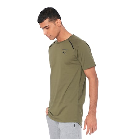 Evolution Men's Core T-Shirt, Olive Night, small-IND