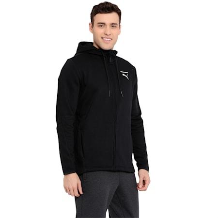 Evolution Men's Core Full Zip Hoodie, Puma Black, small-IND