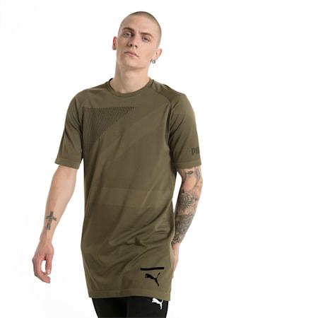 Evolution Men's evoKNIT T-Shirt, Olive Night, small-IND