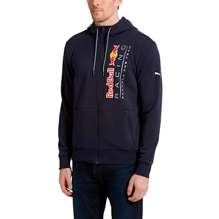 Red Bull Racing Lifestyle Men's Hooded Sweat Jacket, NIGHT SKY, small