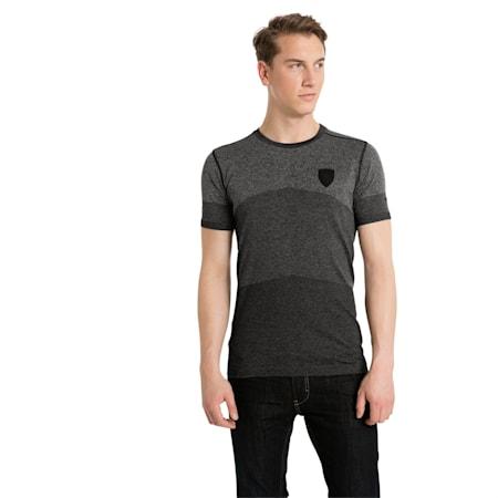 Ferrari Lifestyle Men's evoKNIT T-Shirt, Moonless Night Heather, small-IND