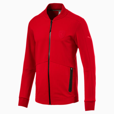 Ferrari Lifestyle Men's Sweat Jacket, Rosso Corsa, small-IND