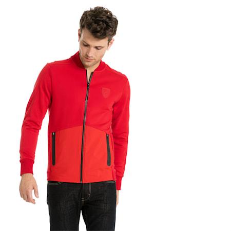 Ferrari Lifestyle Men's Sweat Jacket, Rosso Corsa, small-IND