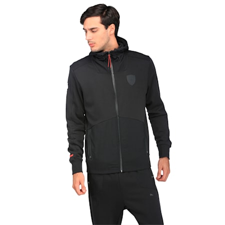 Ferrari Lifestyle Men's Hooded Sweat Jacket, Moonless Night, small-IND