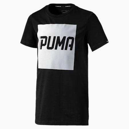 Boys' Evo Graphic T-Shirt, Cotton Black, small-IND