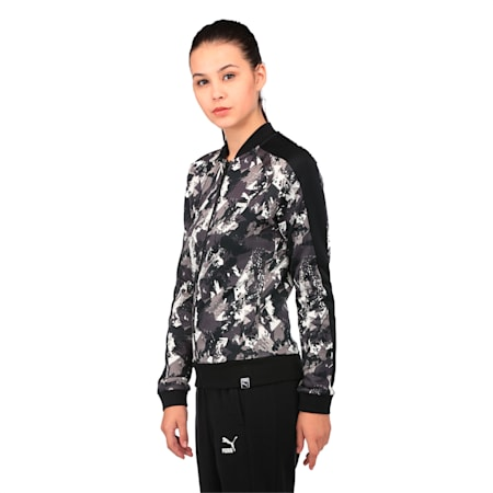 Classics Women's AOP Archive T7 Track Jacket, Puma Black, small-IND