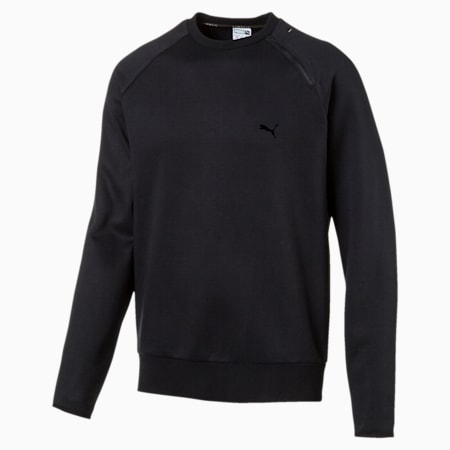 PUMA Men's Evo Crew Sweater, Puma Black, small-SEA