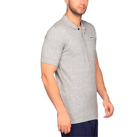 Suede Polo, Light Gray Heather, small-IND