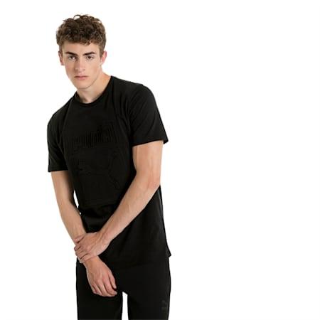 Classics Men's Archive Embossed Logo T-Shirt, Puma Black, small-SEA