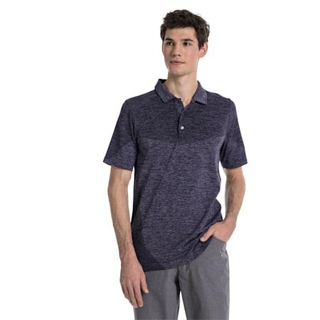 Golf Men's evoKNIT Block Seamless Polo, Peacoat, small-SEA