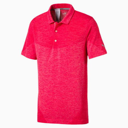 Golf Men's evoKNIT Block Seamless Polo, Paradise Pink, small