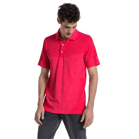 Golf Men's evoKNIT Block Seamless Polo, Paradise Pink, small-SEA