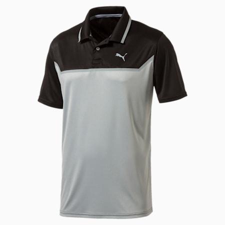 Golf Men's Bonded Tech Polo, Puma Black-Quiet shade, small-SEA