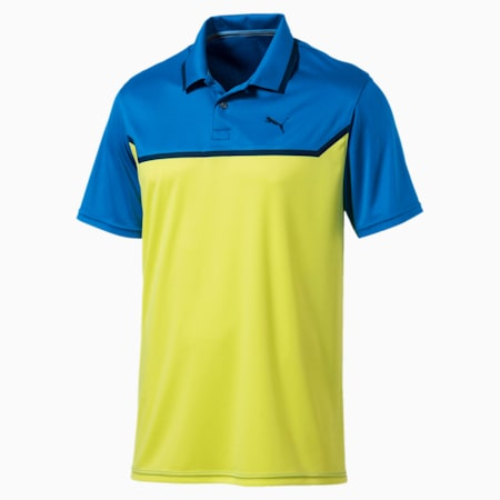Golf Men's Bonded Tech Polo, Electric Blue Lemonade-LT, small-SEA