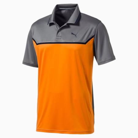 Golf Men's Bonded Tech Polo, QUIET SHADE-Vibrant orange, small-SEA