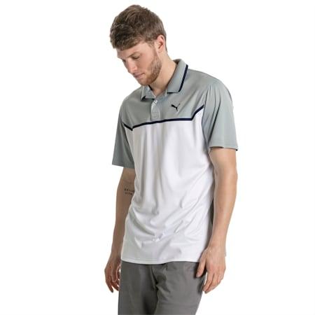 Golf Men's Bonded Tech Polo, Quarry-Bright white, small-SEA