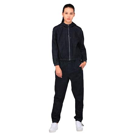 Classics Women's Denim Track Jacket, Peacoat-denim, small-IND