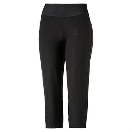 Golf Women's PWRSHAPE Capri Pants, Puma Black, small-SEA