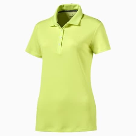 Golf Women's Jacquard Polo, Sunny Lime, small-SEA