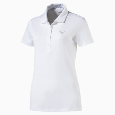 Golf Damen Pounce Polo, Bright White, small