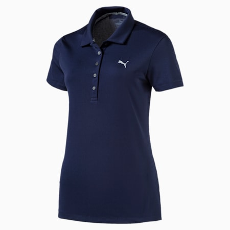 Golf Damen Pounce Polo, Peacoat, small