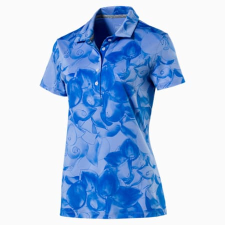 Women's Bloom Polo, nebulas blue, small-SEA