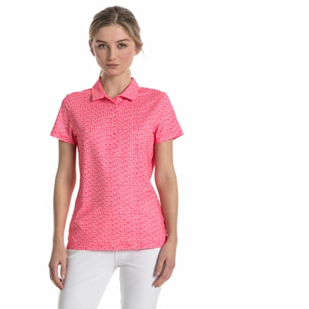 Golf Women's Polka Dot Polo, bright plasma, small-SEA