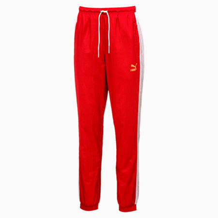 T7 BBoy Track Pants, Flame Scarlet-white, small-IND