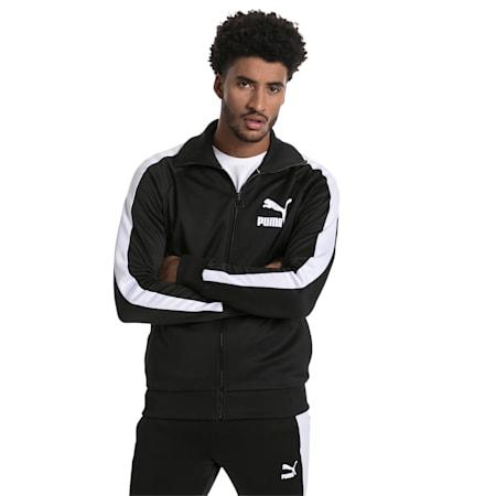 T7 Vintage Men's Track Jacket, Puma Black-white, small-IND