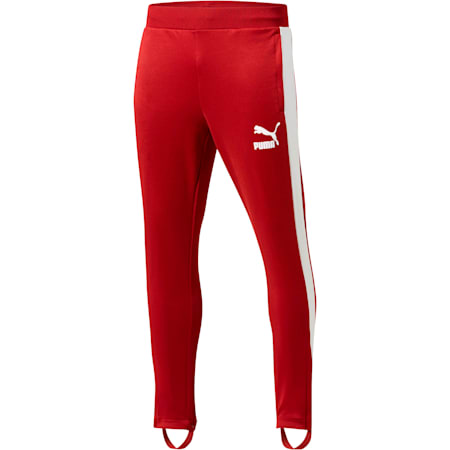 T7 Vintage Men's Track Pants, Red Dahlia-white, small