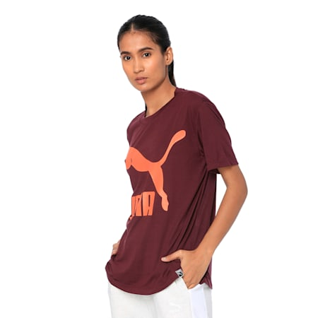 Classics Logo Women's Short Sleeve T-Shirt, Winetasting, small-IND