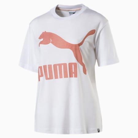 Classics Logo Women's Short Sleeve T-Shirt, Puma White-5, small-IND