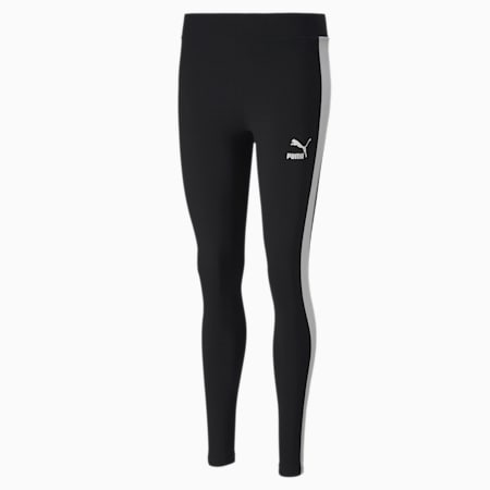 Classics Logo T7 Women's Leggings, Cotton Black, small-SEA