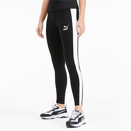 Classics Logo T7 Women's Leggings, Cotton Black, small