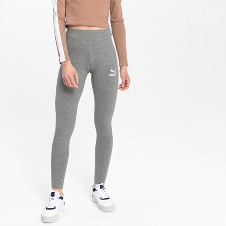 Classics Logo T7 Women's Leggings, Medium Gray Heather, small
