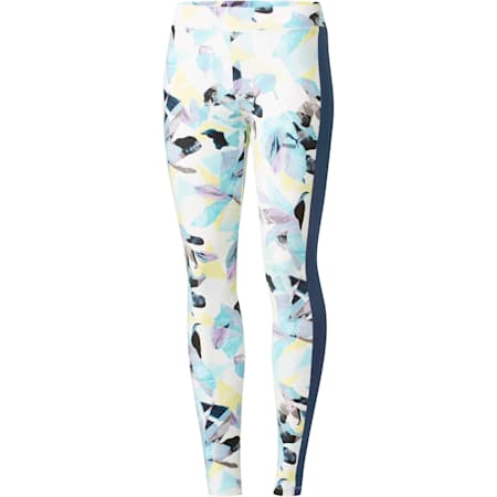 Classics Logo T7 AOP Leggings, Sargasso Sea-AOP, small