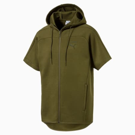 Pace Men's Short Full Zip Sleeve Trend Top, Capulet Olive, small-IND