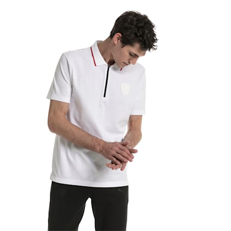 Ferrari dryCELL Men's Polo, Puma White, small-IND