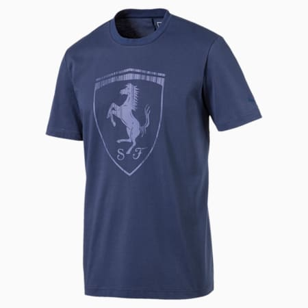 Ferrari dryCELL Men's Big Shield T-Shirt, Sargasso Sea, small-IND
